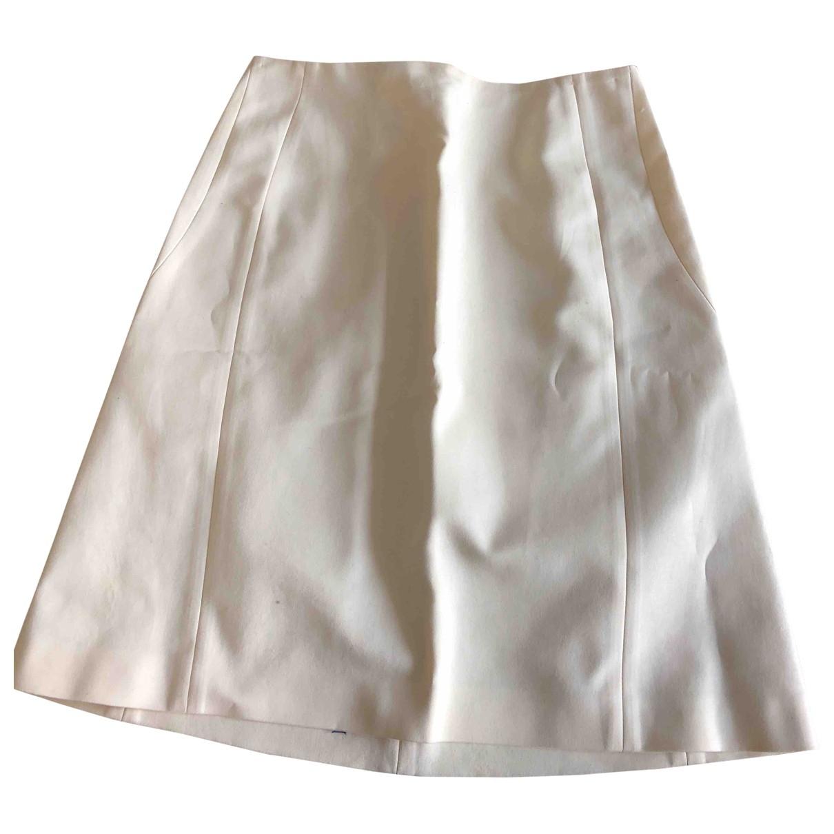Jil Sander - Jupe   pour femme en coton - beige