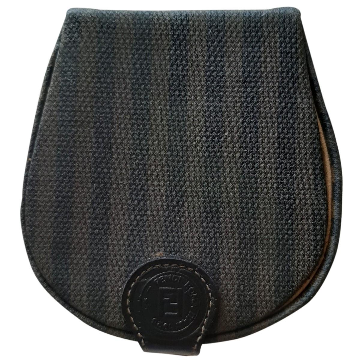 Fendi - Petite maroquinerie   pour homme en toile - noir