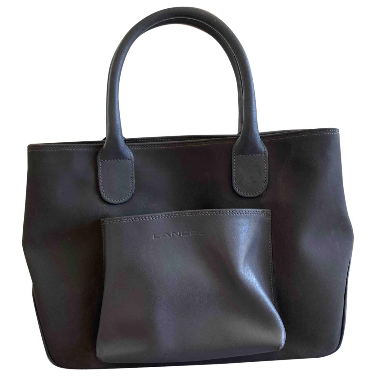 Lancel - Sac a main   pour femme en cuir - gris