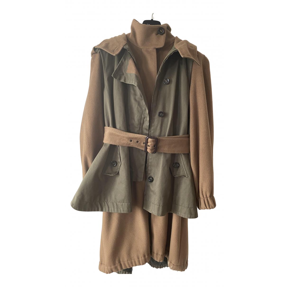 Sport Max - Manteau   pour femme en laine - camel