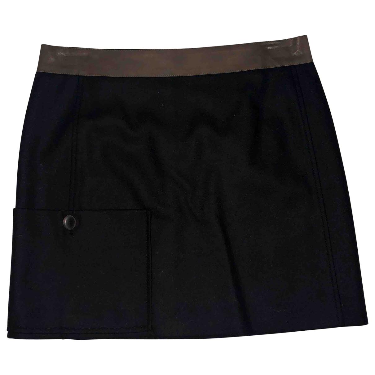 Brunello Cucinelli \N Black Wool skirt for Women 44 IT
