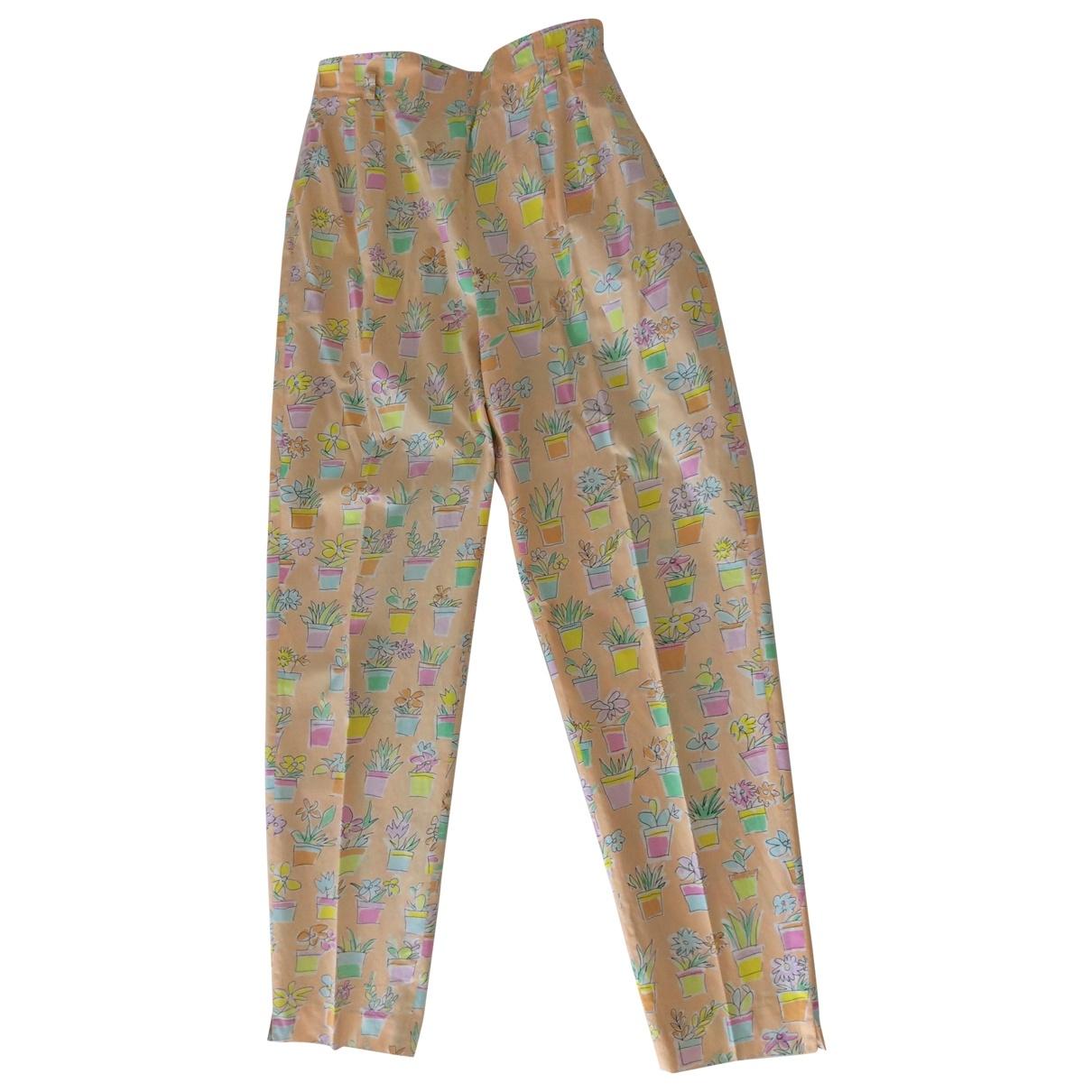 Marella \N Multicolour Cotton Trousers for Women 42 IT