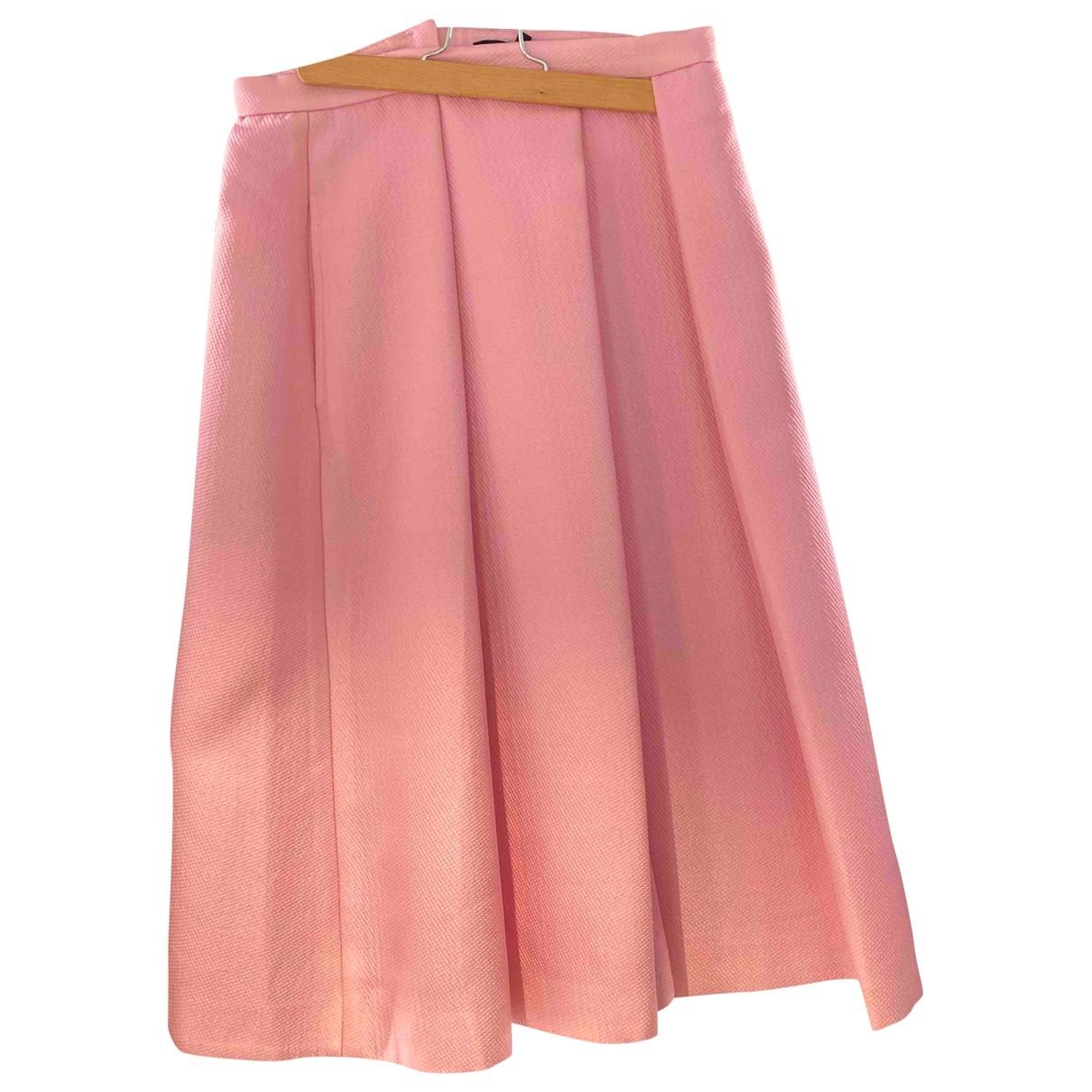 Tibi \N Rocke in  Rosa Polyester