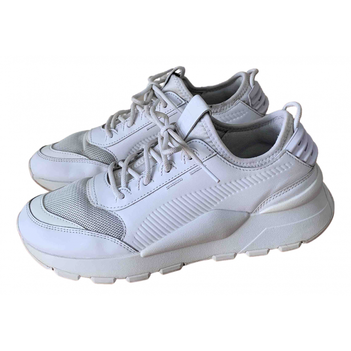 Puma \N Sneakers in  Weiss Leder