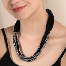 Halskette mit Kristall Dekor