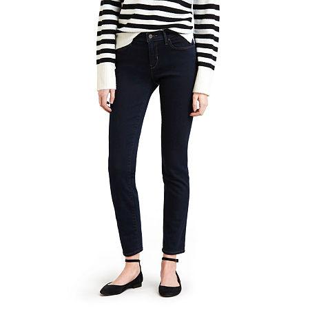 Levi's Classic Mid Rise Skinny Jean, 8 Short , Blue