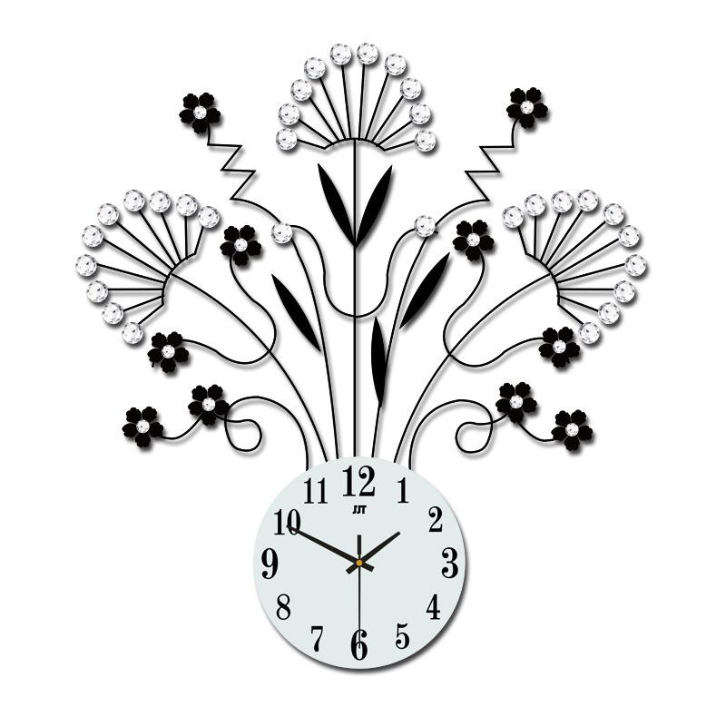 Needle&Digital Display Type Single Face Form Stopwatch Movement Wall Clock