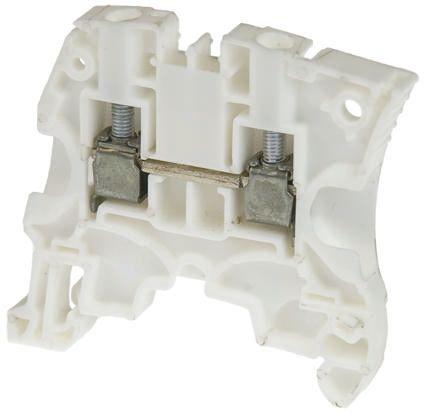 Entrelec ATEX, ZS6, 1 kV ac Feed Through Terminal Block, Screw Termination, White (10)