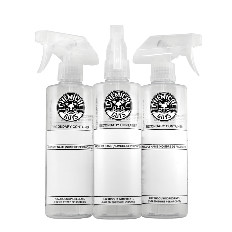 Secondary Container Dilution Bottles (3 Pack) | Chemical Guys