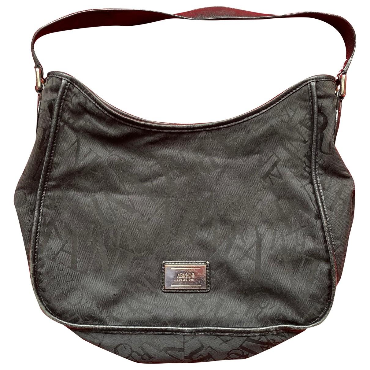 Armani Collezioni \N Handtasche in  Schwarz Leinen
