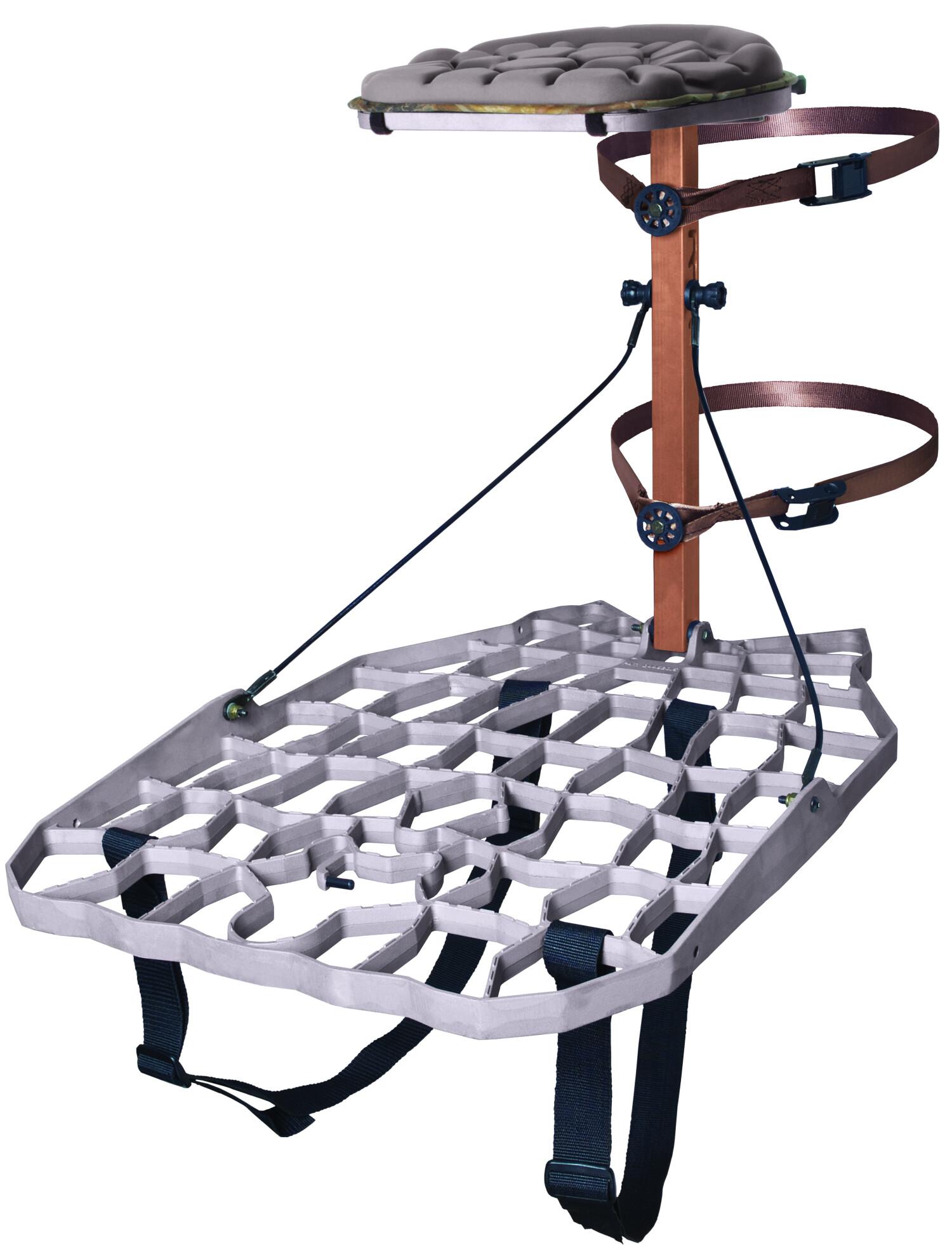 Lone Wolf Treestands Alpha II Hang-On Easy Hang Bracket Accessible, Quiet, Aluminum Platform, Mobile Hunting Outdoor
