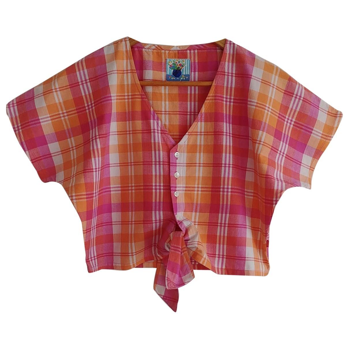 Non Signé / Unsigned \N Multicolour Cotton  top for Women 2 US