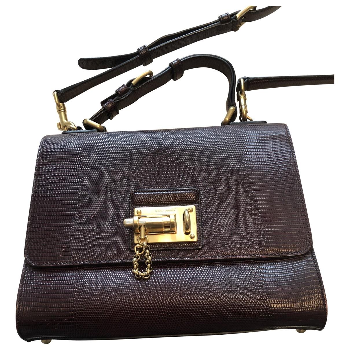 Dolce & Gabbana \N Burgundy Lizard handbag for Women \N