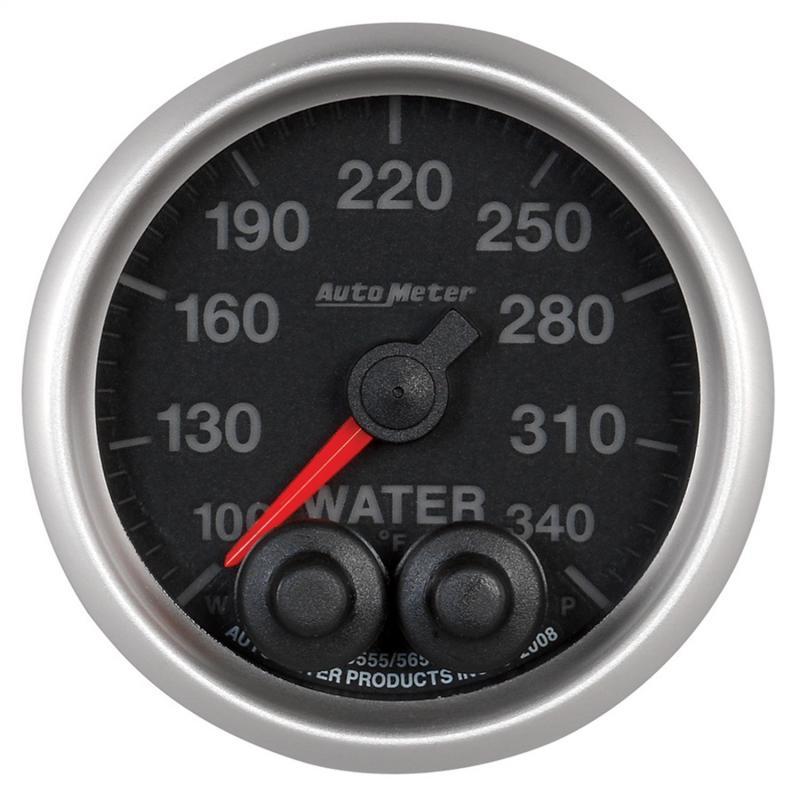 AutoMeter GAUGE; WTEMP; 2 1/16in.; 340deg.F; STEPPER MOTOR W/PEAK/WRN; ELITE; W/O PRO-CONT