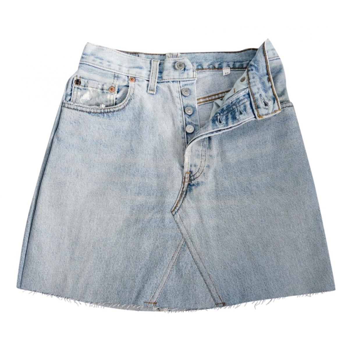 Levis Vintage Clothing - Jupe   pour femme en coton - bleu