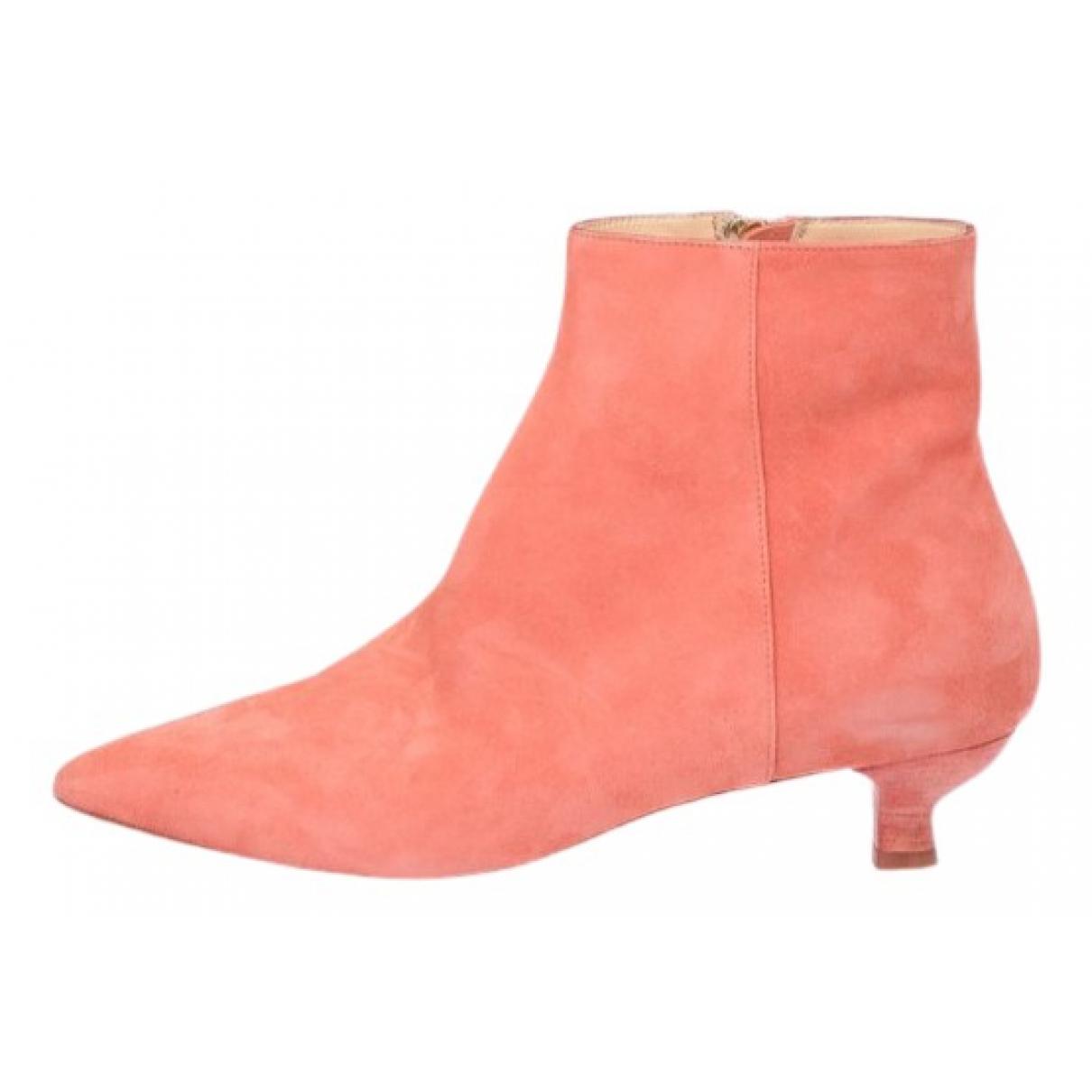 Drome - Boots   pour femme en velours - rose