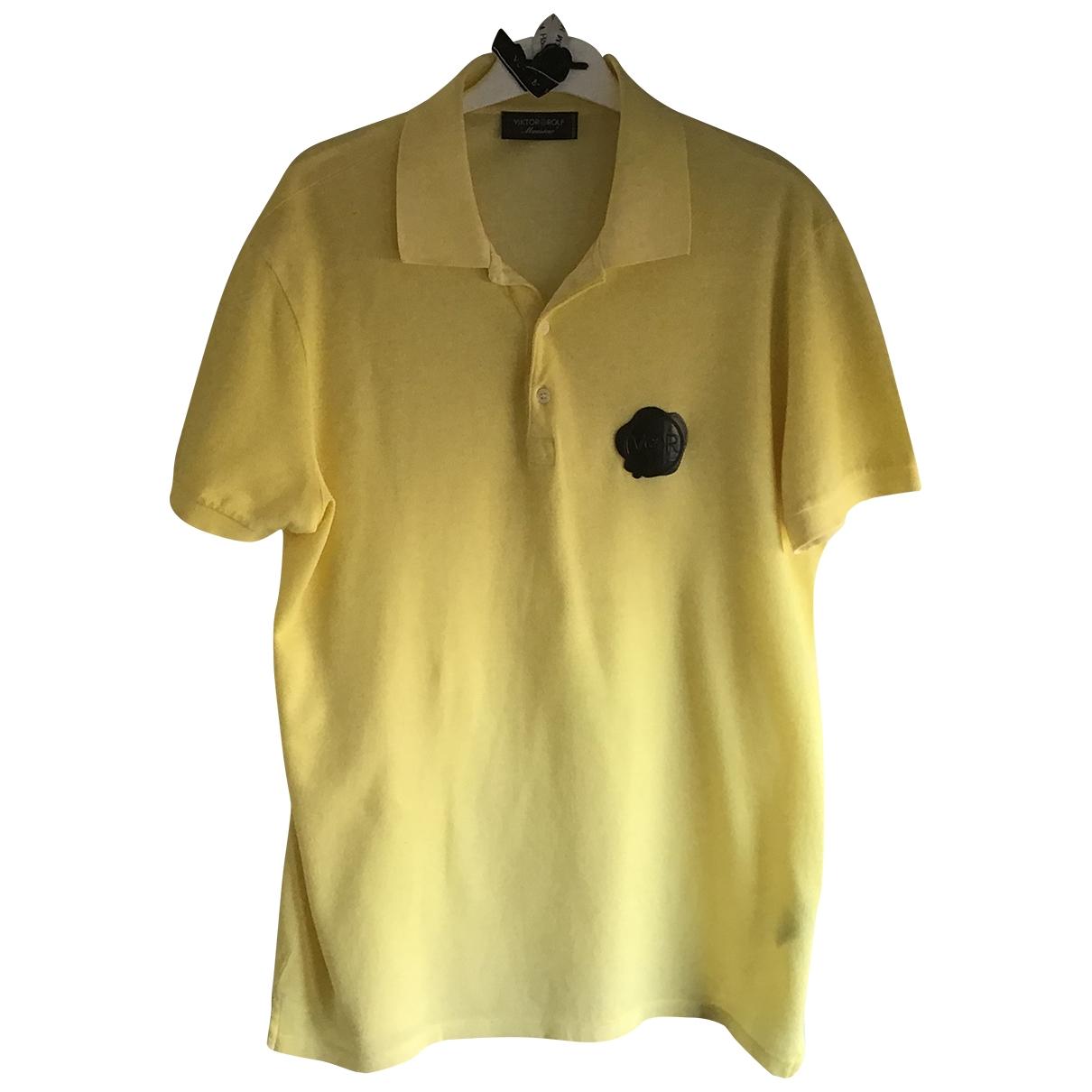 Viktor & Rolf - Polos   pour homme en coton - jaune
