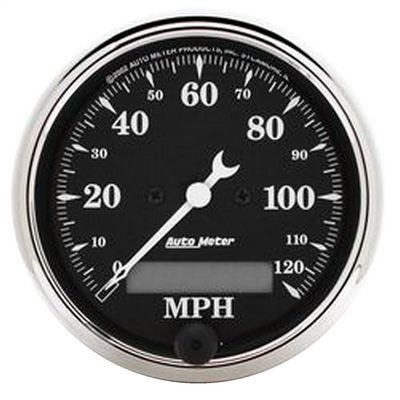 Auto Meter Old Tyme Black Electric Programmable Speedometer, 3 1/8 Inch - AMG1787