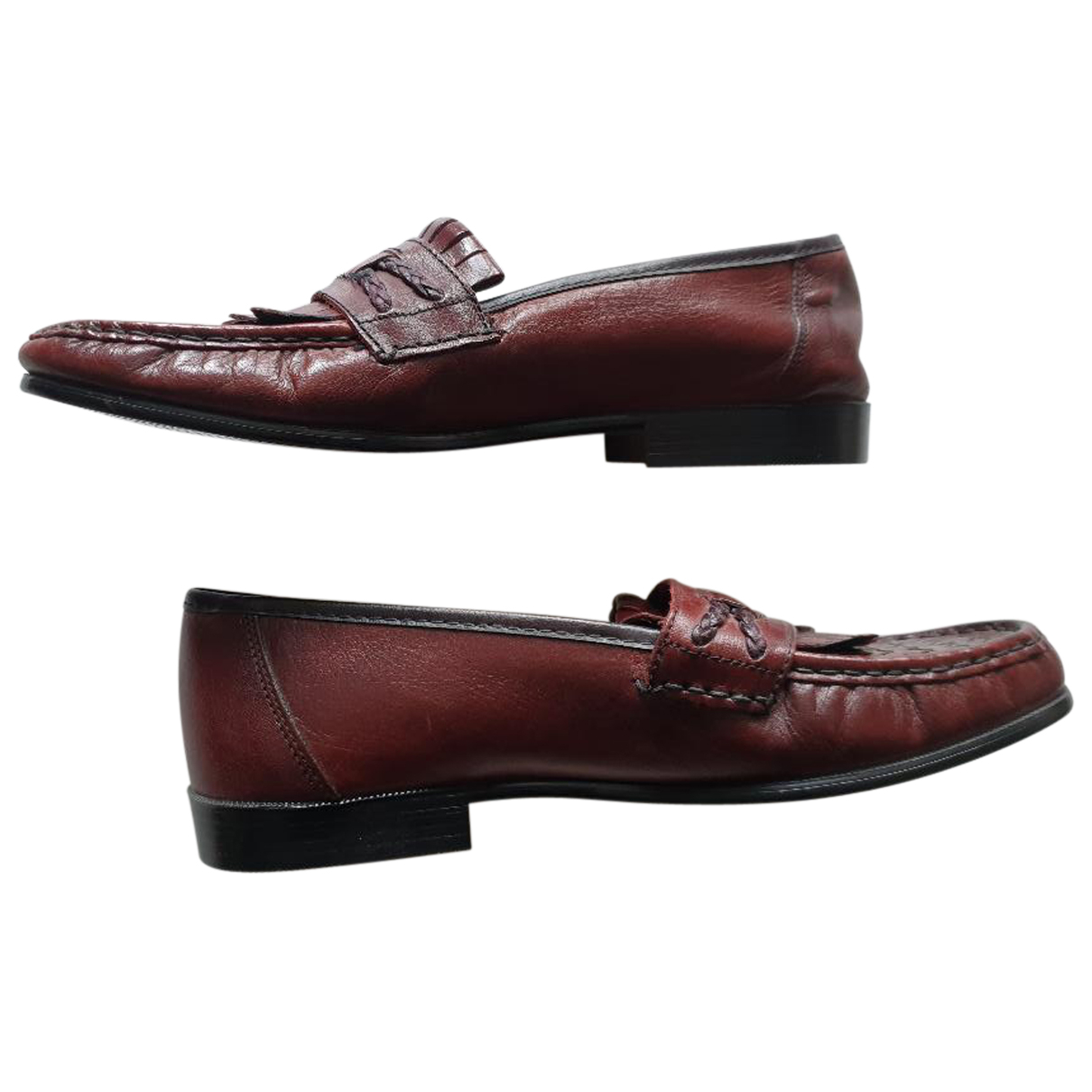 Sandro N Brown Leather Flats for Men 40 EU
