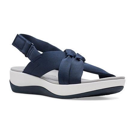 Clarks Womens Arla Belle Strap Sandals, 6 1/2 Wide, Blue