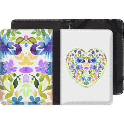 PocketBook Touch 622 eBook Reader Huelle - Love Folk Olive Green von Amy Sia