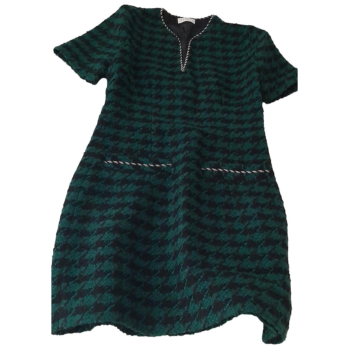 Sandro \N Kleid in  Gruen Tweed