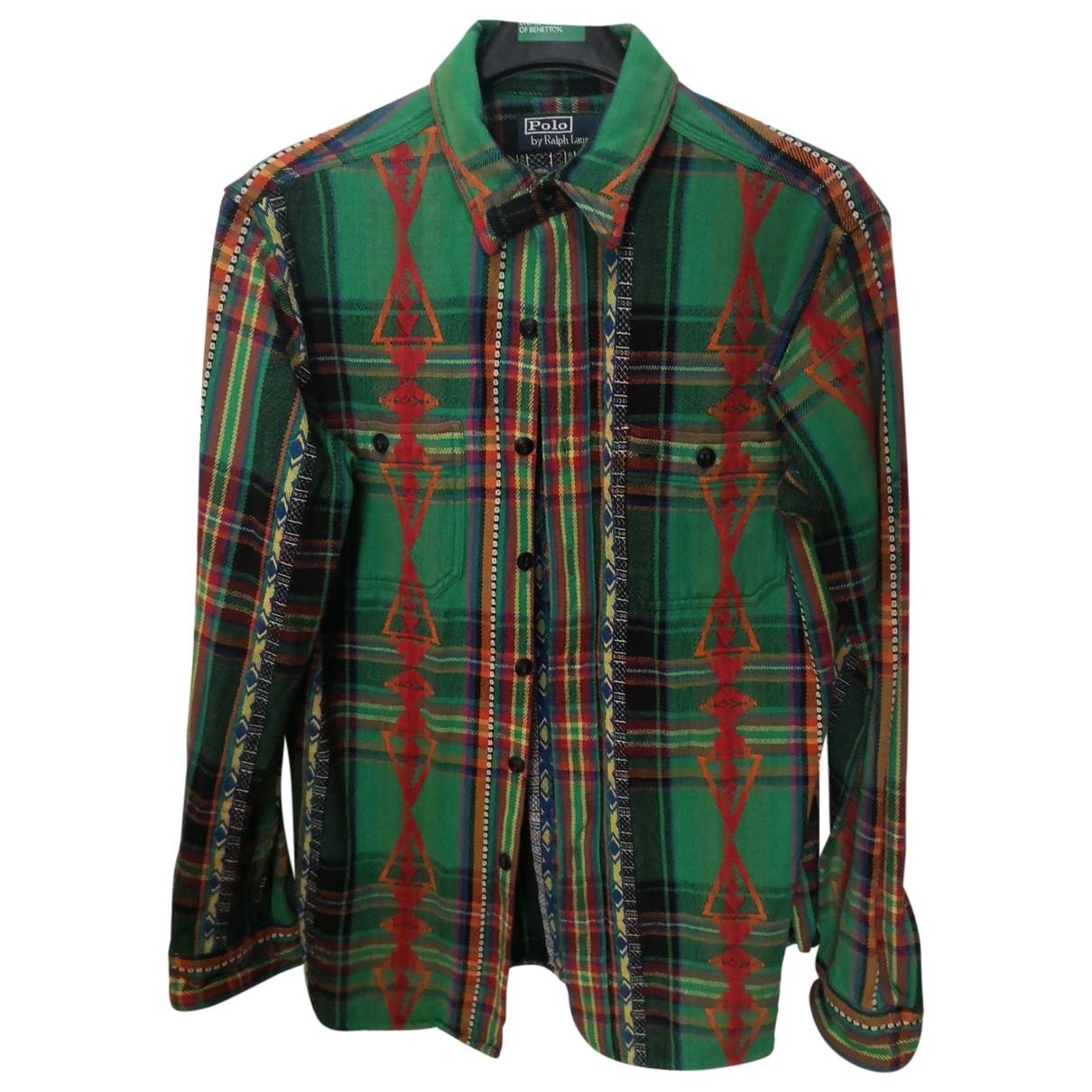 Polo Ralph Lauren \N Green Cotton Shirts for Men M International