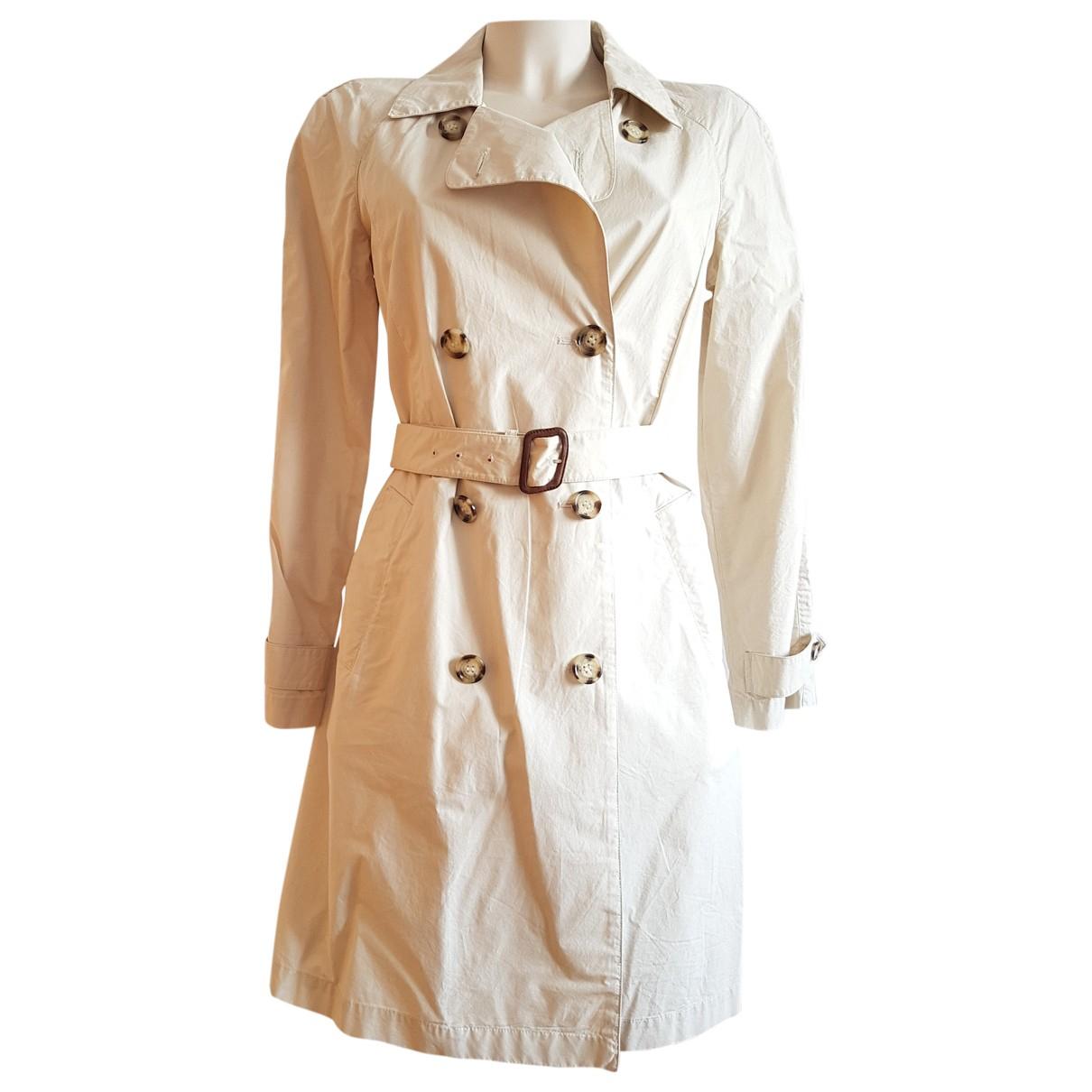 Prada - Trench   pour femme en coton - beige
