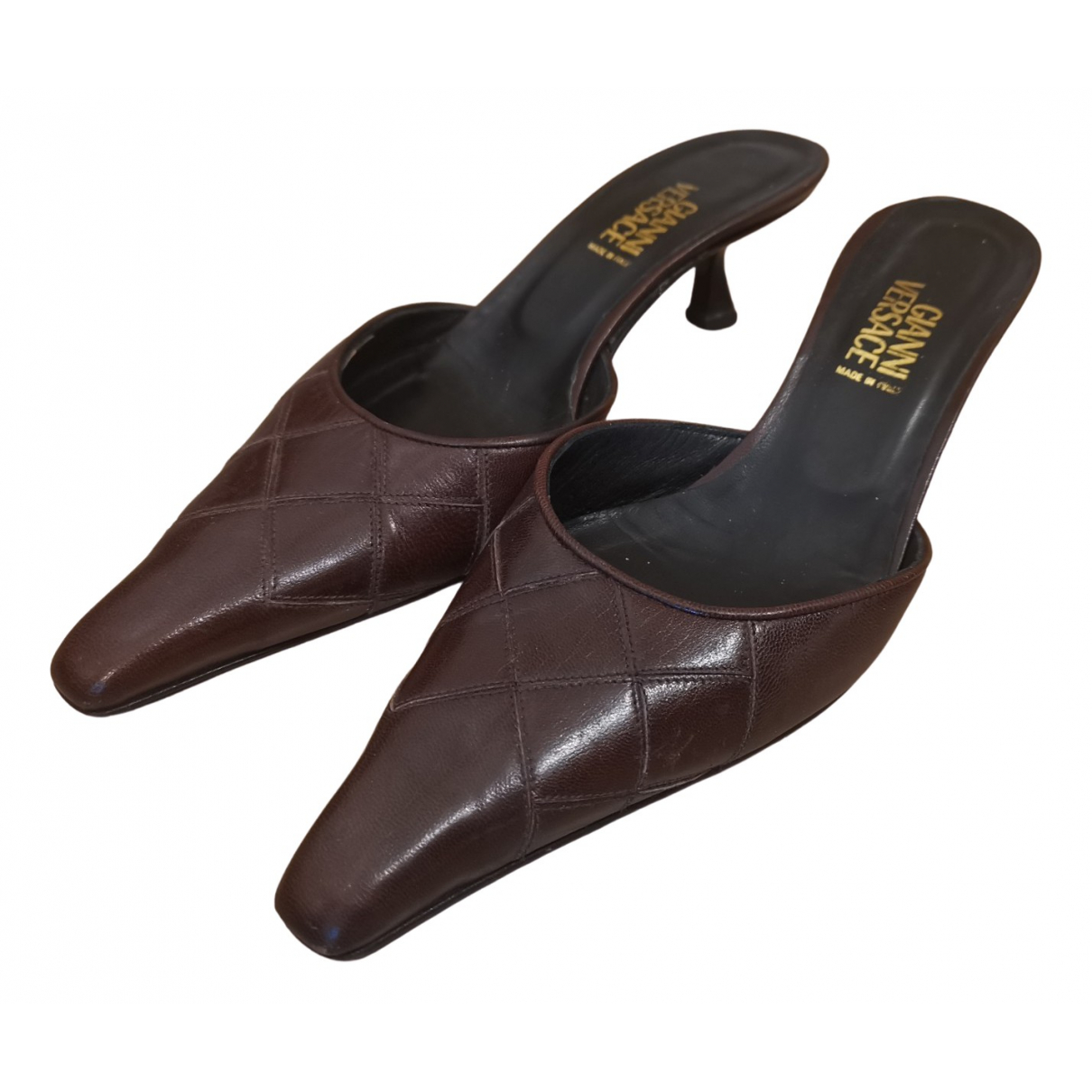 Gianni Versace \N Sandalen in  Braun Leder