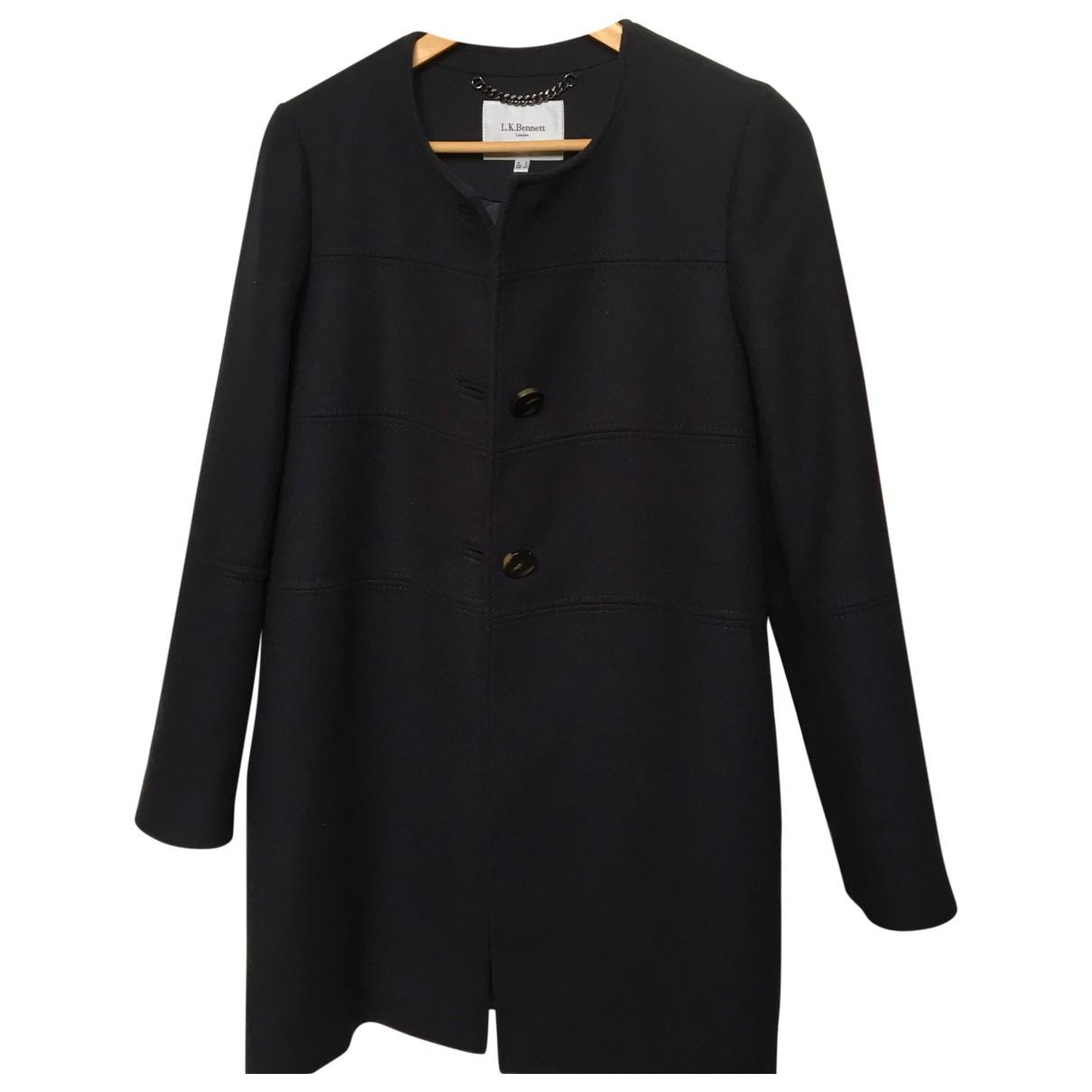 Lk Bennett \N Navy Wool coat for Women 12 UK