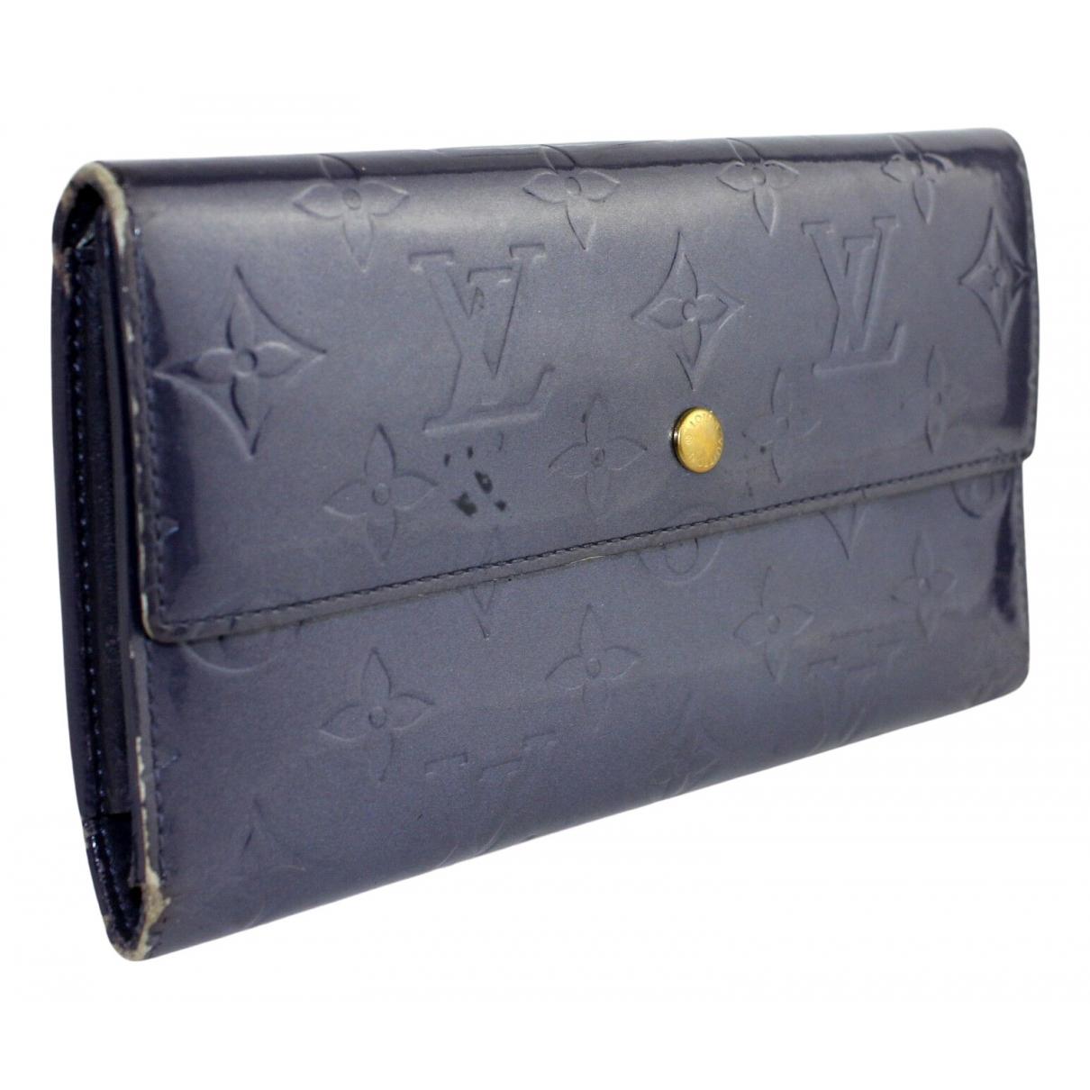 Louis Vuitton - Portefeuille   pour femme en cuir verni - violet