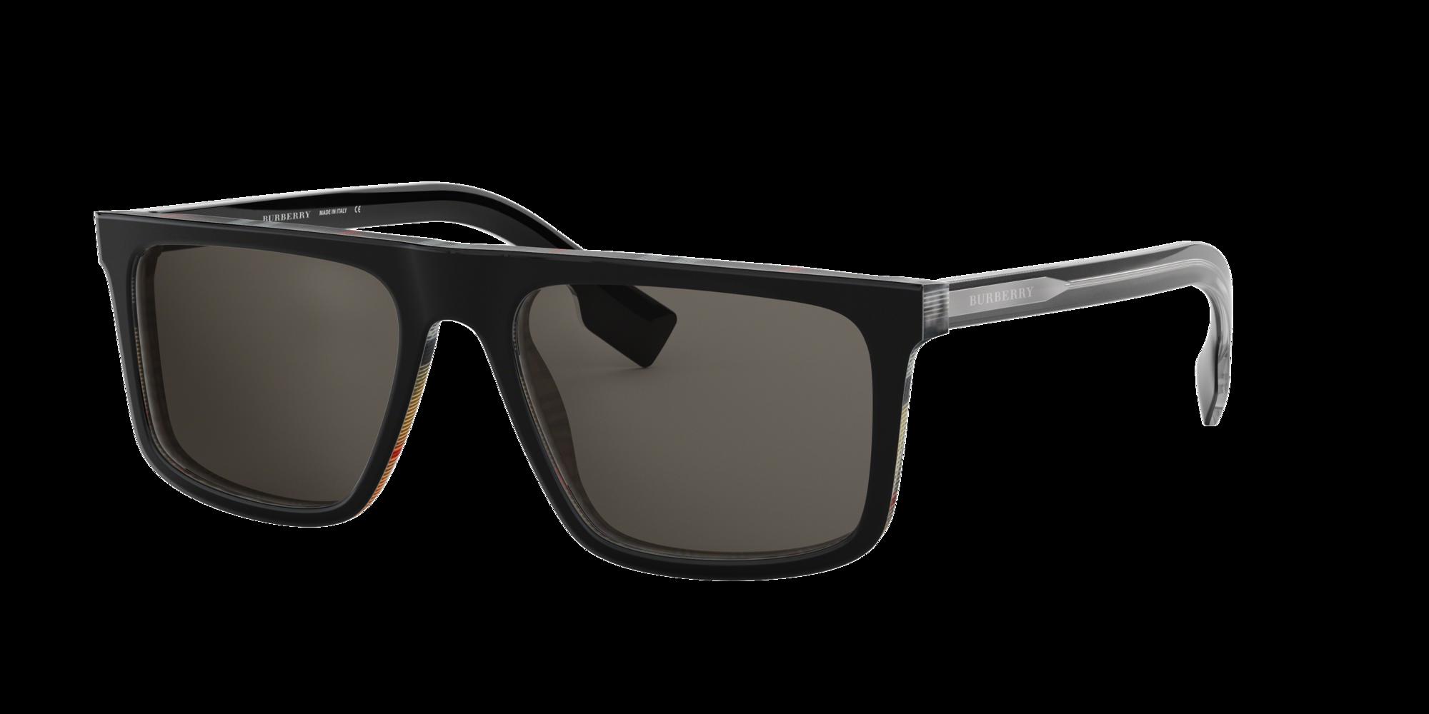 Burberry Man  BE4276 -  Frame color: Black, Lens color: Grey-Black, Size 55-18/145