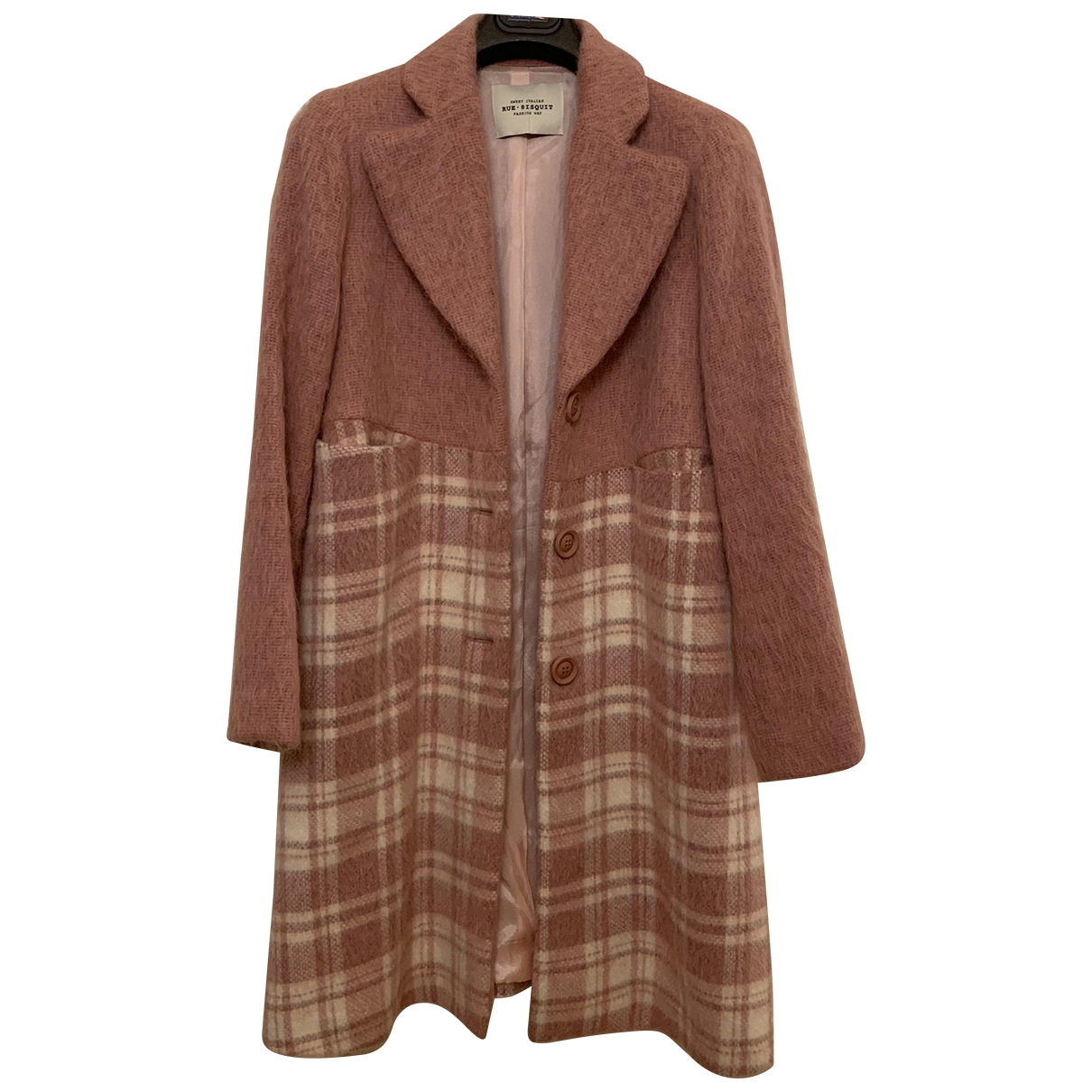 Non Signé / Unsigned \N Pink Wool coat for Women M International