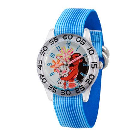 Disney Moana Girls Blue Strap Watch-Wds000044, One Size , No Color Family