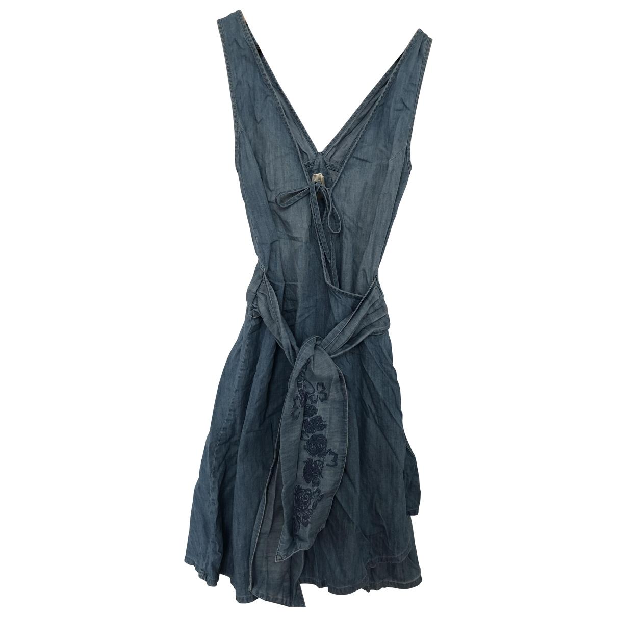 Diesel - Robe   pour femme en coton - bleu