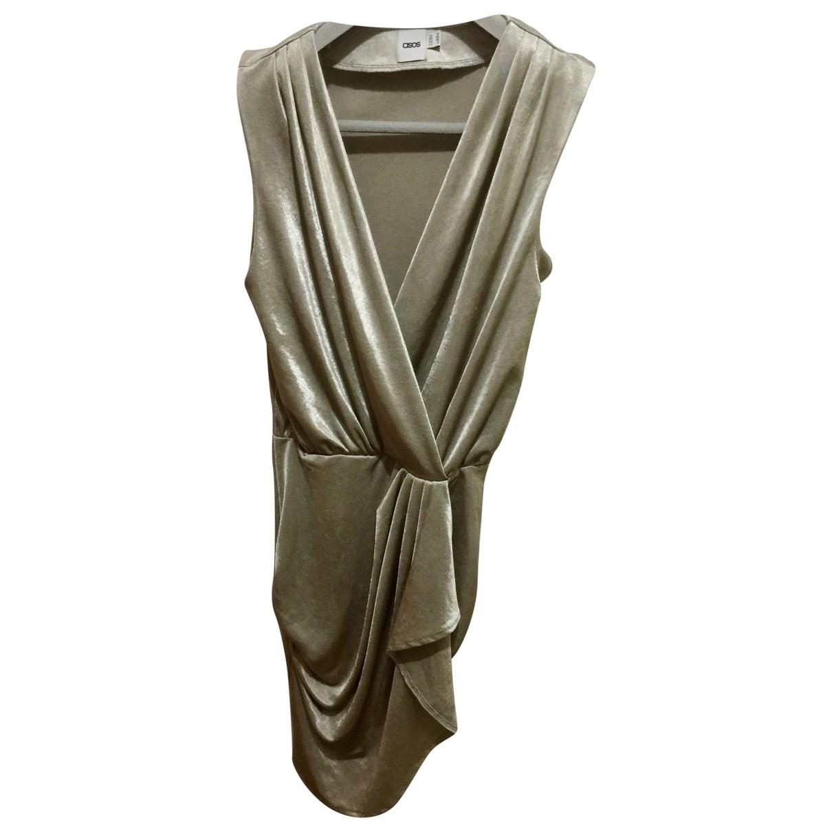 Asos - Robe   pour femme - metallise