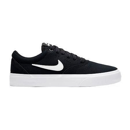 Nike Sb Charge Boys Skate Shoes, 4 Medium, Black