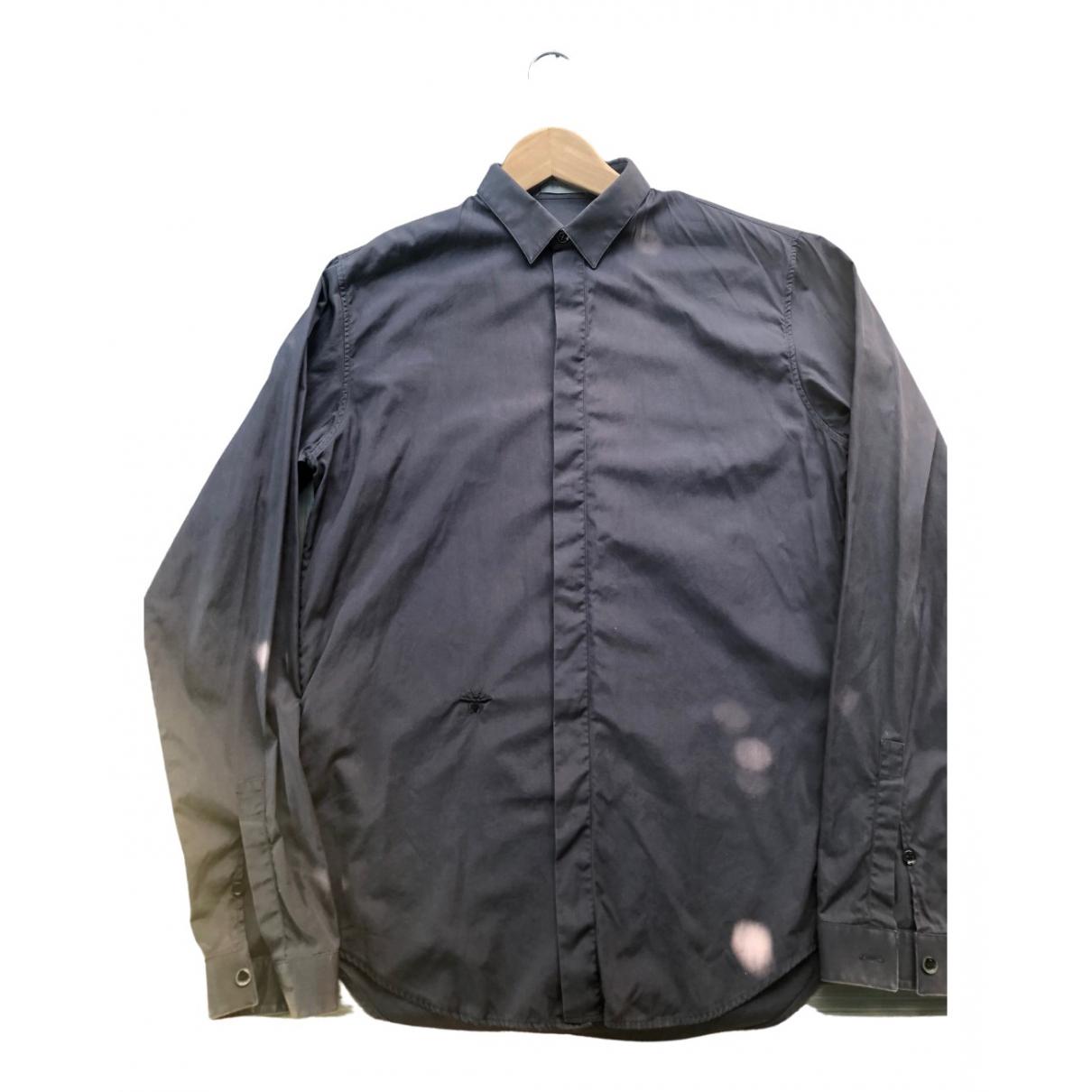 Dior - Chemises   pour homme en coton - marine