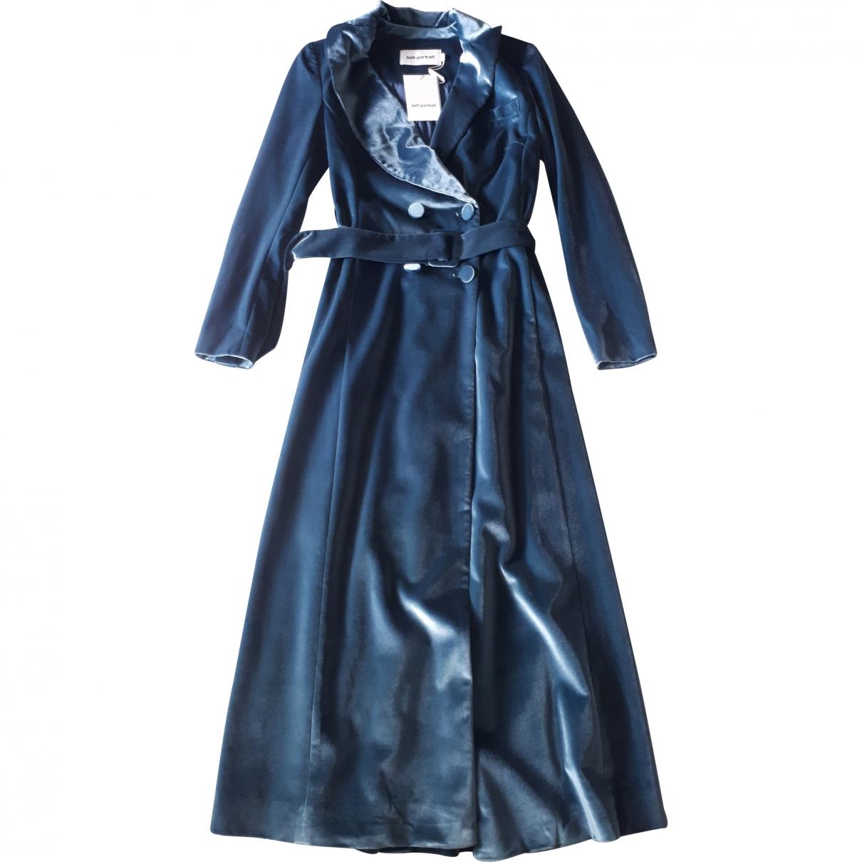 Self Portrait \N Turquoise Velvet coat for Women 40 IT