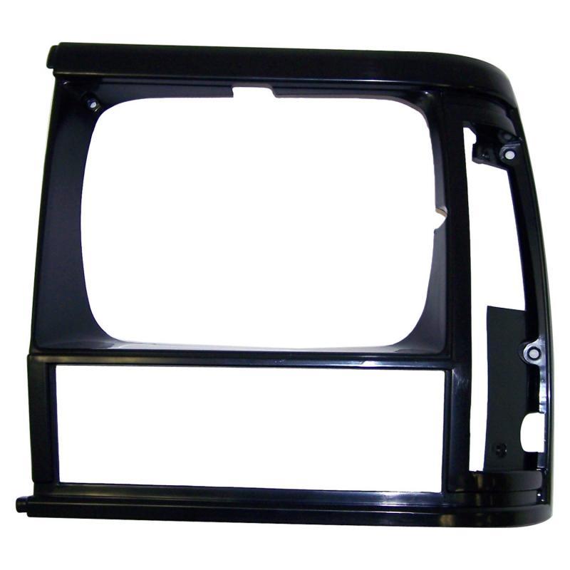 Crown Automotive 55054931 Jeep Replacement Flat Black Left Headlight Bezel for 91/96 XJ Cherokee & 91/92 MJ Comanche Jeep Left