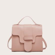 Minimalist Plain Satchel Bag