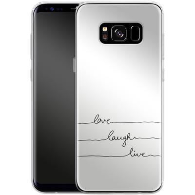 Samsung Galaxy S8 Silikon Handyhuelle - Love, Laugh, Live von Mareike Bohmer