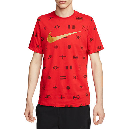 Nike Mens Crew Neck Short Sleeve T-Shirt, X-large , Red