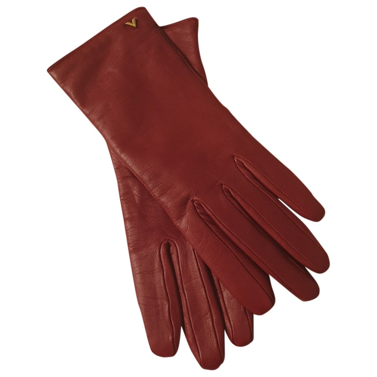 Louis Vuitton \N Handschuhe in  Rot Leder