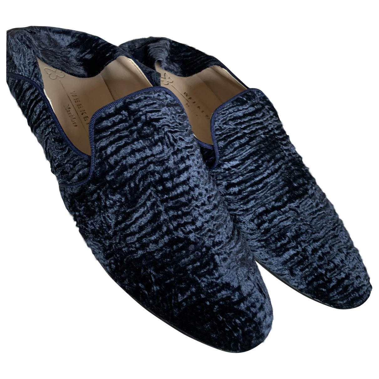 Max Mara Weekend \N Blue Velvet Flats for Women 41 IT