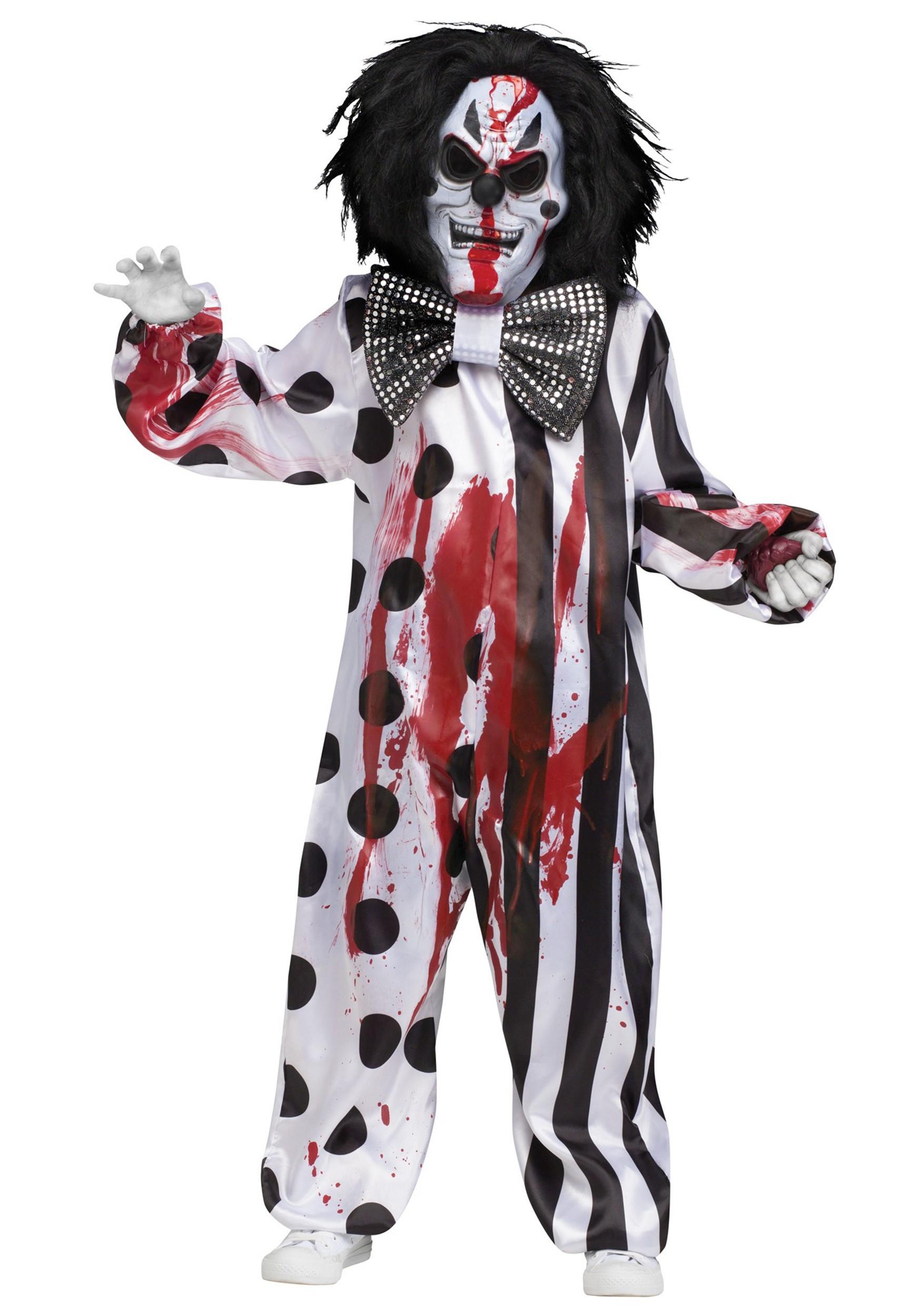Bleeding Killer Clown Costume