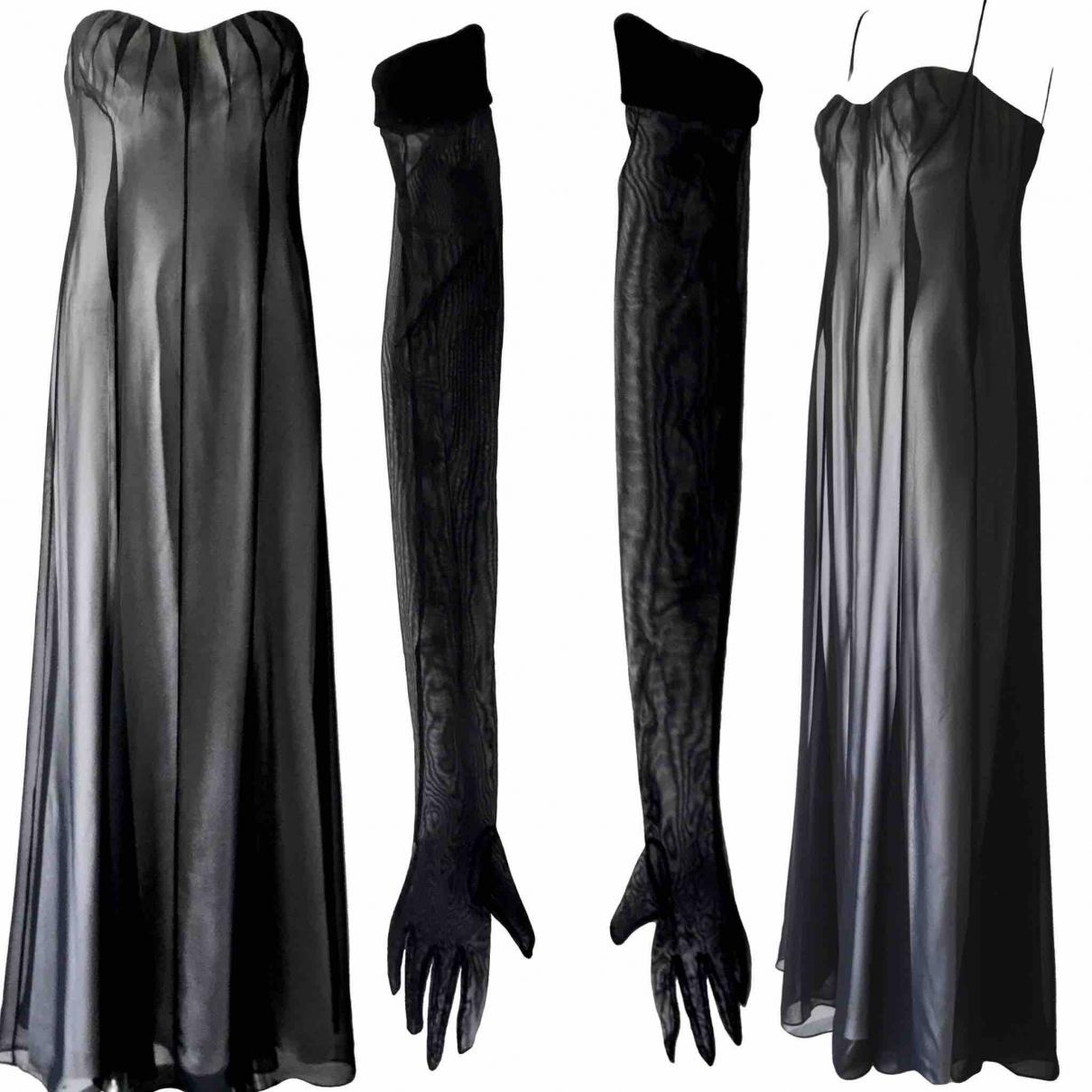 Thierry Mugler \N Black Silk dress for Women 38 FR