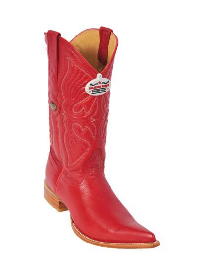 Los Altos Red Deer XXXToe Cowboy Boots