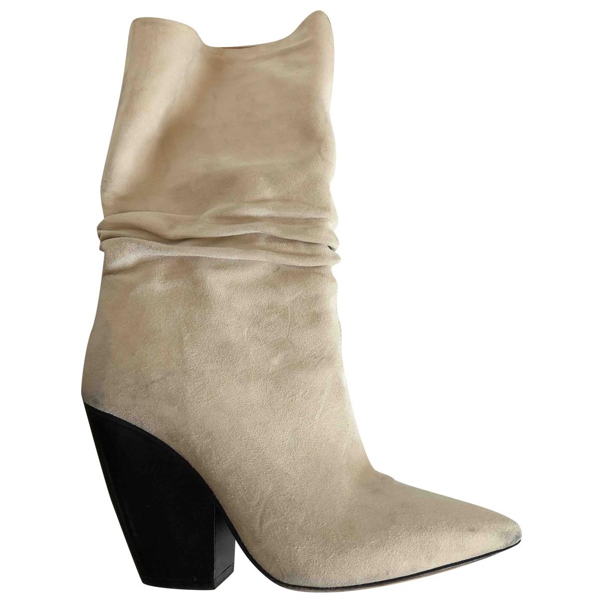 Iro Spring Summer 2019 Beige Suede Boots for Women 37 EU