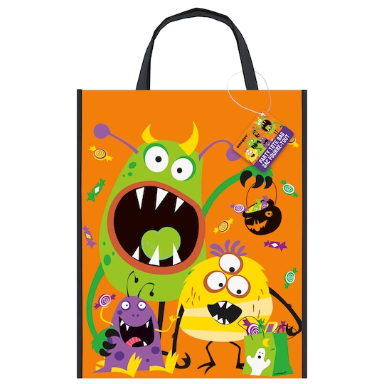 Large Plastic Silly Monsters Halloween Goodie Bag, 15